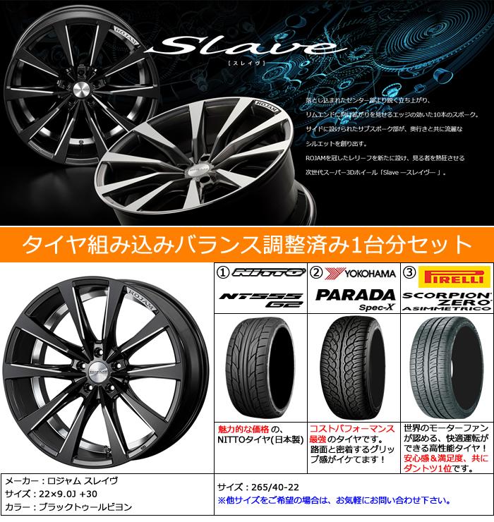 レクサス RX用 ホイール&タイヤセット(ロジャム スレイヴ・22インチ)